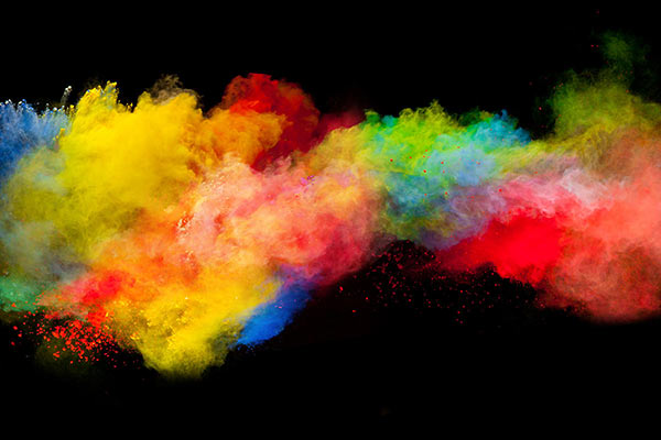 Literally, an explosion of color stock photo