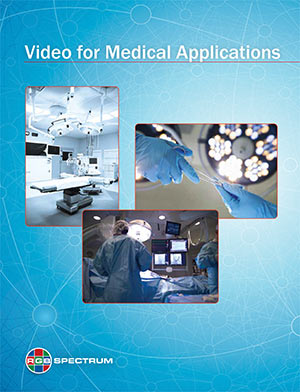 RGB Spectrum video for medical applications brochure