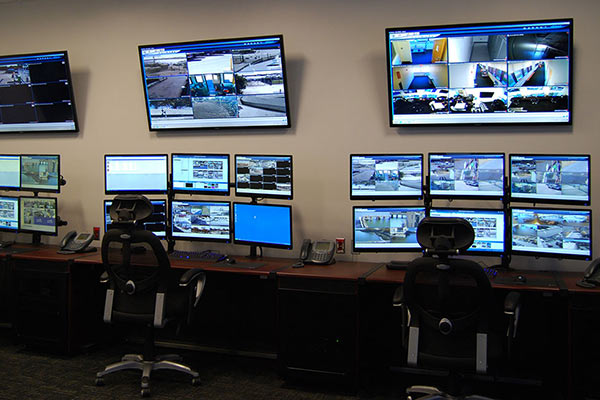 National Grid control room monitors