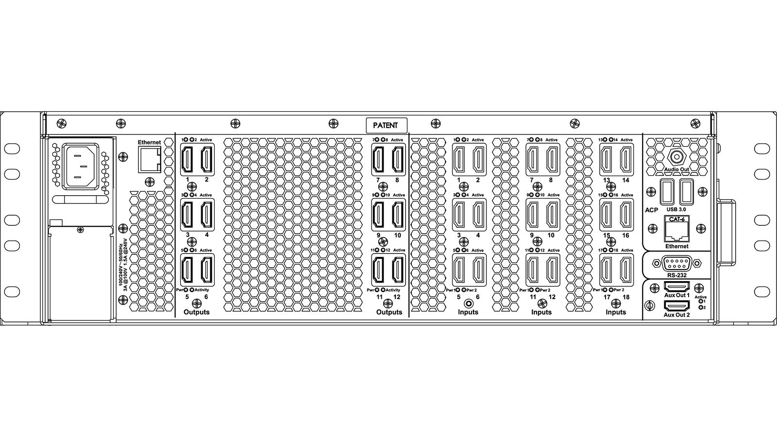 MWV 500: Back Panel