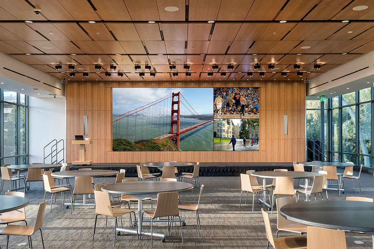 California university video wall screens