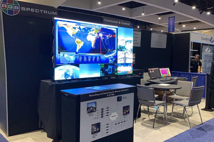AFCEA WEST RGB Spectrum booth