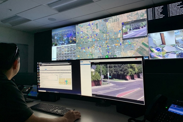 Elk Grove Police Department Video Wall