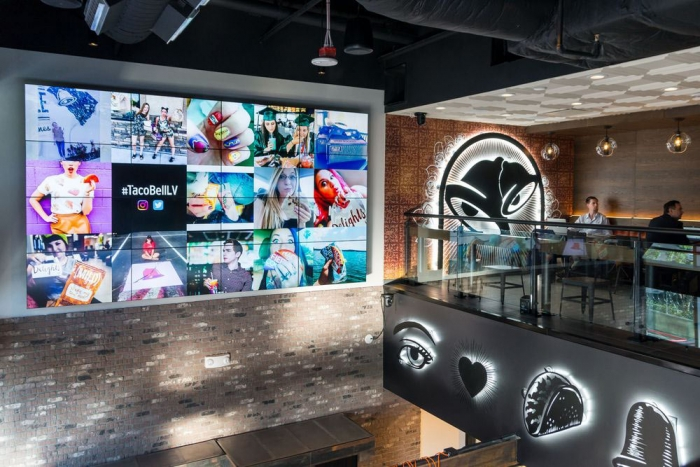 Taco Bell Cantina Las Vegas Video Wall