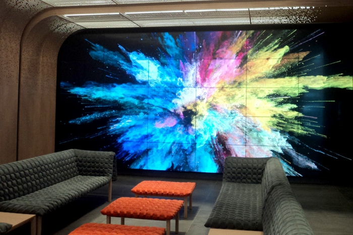 Titan Electric video wall at 3Eleven, Chicago