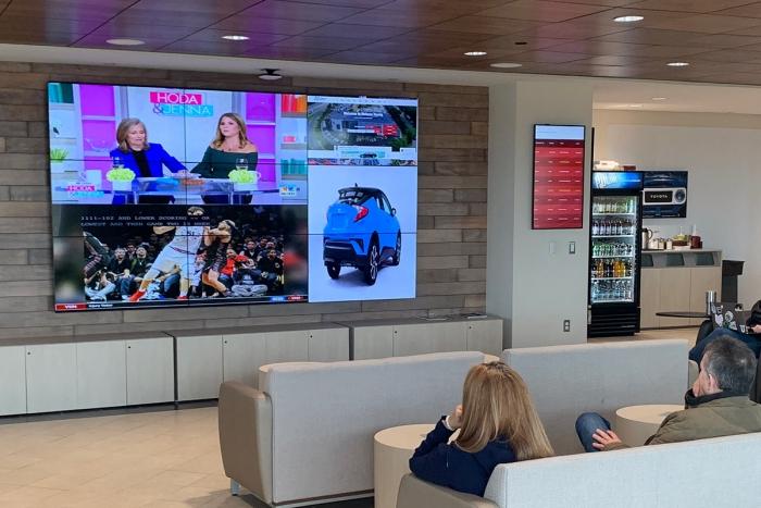 Toyota Customer Lounge Galileo video wall
