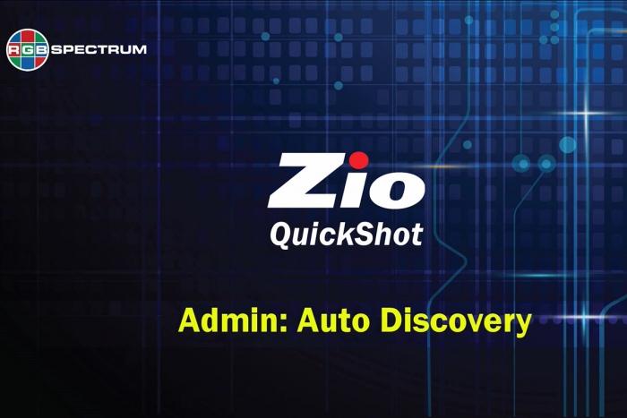 Zio User Interface QuickShot video