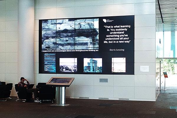 University of Aberdeen video wall