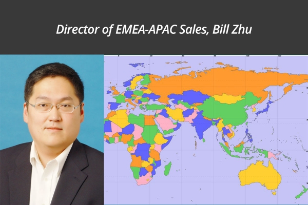 Bill Zhu Promoted to Director of EMEA-APAC Sales
