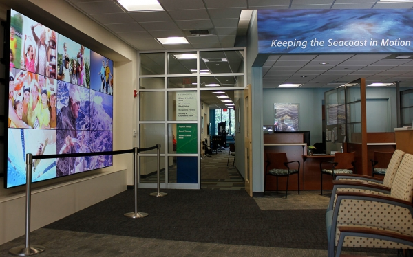 Exeter Hospital video wall display