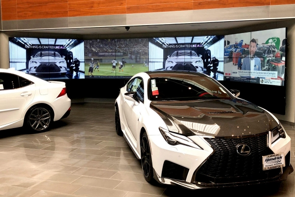 Hendrick Lexus video wall