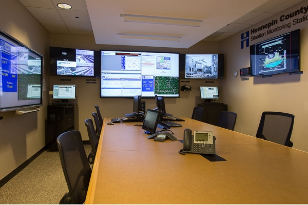 Hennepin County Emergency Monitoring and Response video wall