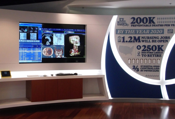McKesson Worldwide Vision Center video wall display