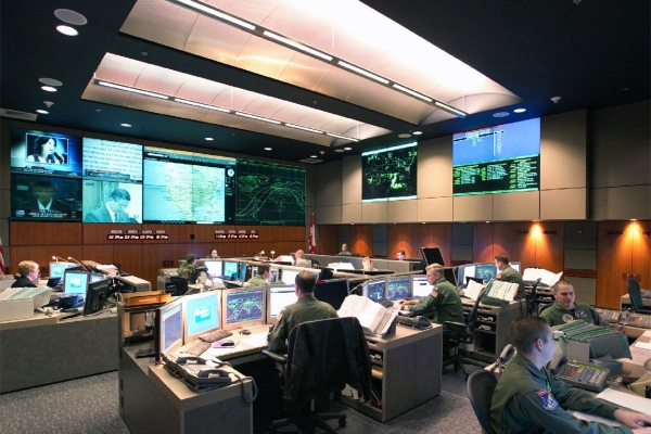 NORAD's Cheyenne Mountain command room