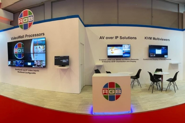 RGB Spectrum ISE 2020 booth