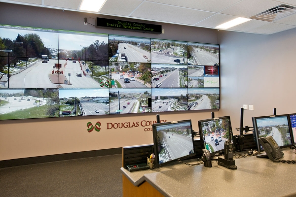 Colorado DOT Douglas County traffic management operations center video wall