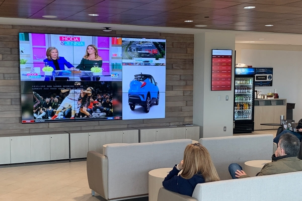 Toyota Customer Lounge Galileo video wall