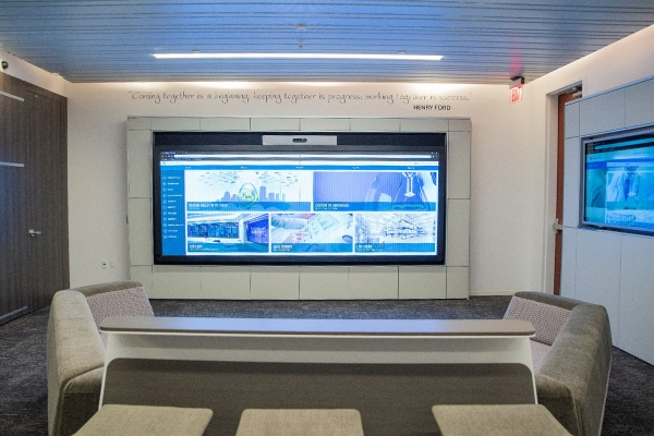 World Wide Technology Innovation Center collaborative video wall